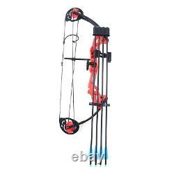 15-25lbs Adjustable Compound Bow 40'' Archery Right Left Hand Aluminum Hunting