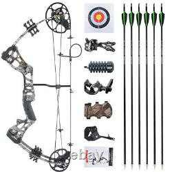 15-45lbs Youth Compound Bow Set Junior Kids Target Gift Archery Hunting Shooting
