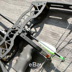 16 Mini Compound Bow Set 40lbs Archery Fishing Hunting Right Left Hand Sight