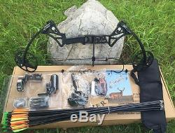 20-70lbs Camo/Black Archery Compound Bow Set Hunting Right Hand Shooting Target