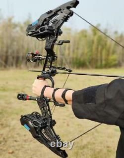 21.5lbs-80lbs Compound Bow 330fps Steel Ball Dual Purpose Archery Arrows Hunting