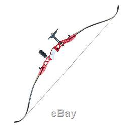 22lbs Archery Straight Bow Kit Target Practice Hunting Takedown Longbow Red