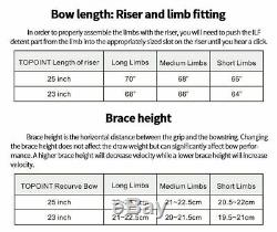 25 Right /Left Hand Archery Recurve Bow Riser Aluminum Alloy 6061-T6 F Hunt