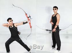 3 Colors Archery Recurve Bow With Aluminum Handle Right/Left Hand For Hunting