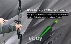 30/40LBS Archery Hunting Takedown Recurve Bow and Arrow Right Hand Target