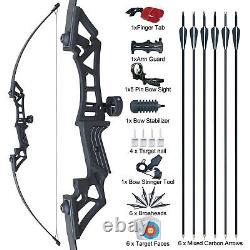 30/40lb 51 Takedown Recurve Bow Set Archery Arrow Outdoor Sport Hunting Target