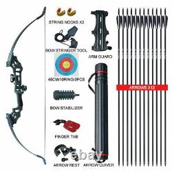 30-50LBS Archery Hunting Takedown Recurve Bow Arrow Right Hand Target Bow Set