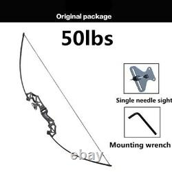 30-50LBS Metal handle bow Recurve for Right Handed Archery Bow Shooting Hunting