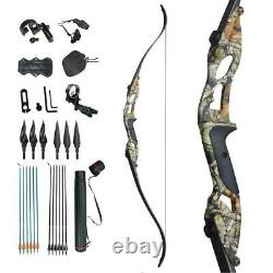 30-50lb Archery Takedown Recurve Bow Set Arrows Hunting Right Hand Outdoor Sport