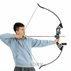 30-50lbs Archery Takedown Recurve Bow Kit Arrows Hunting Target Right Hand Bow