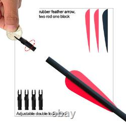 30-60LB Red Takedown Recurve Bow Set Outdoor Archery Bow Hunting Target