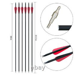 30-60LBS Red Archery Recurve Bow Set Outdoor Hunting Target Sport Right Hand