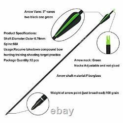 30-60lb Archery 60 Takedown Recurve Bow Kit Arrows Hunting Targeting Adult RH