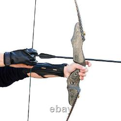 30-60lb Archery Takedown Recurve Bow Longbow Set Adult Outdoor Hunting Practice