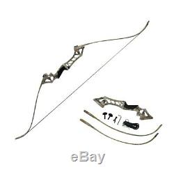 30-60lbs Archery Recurve Bow Longbow Sets Hunting Target & 12Arrowsheads Camo