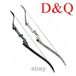 30-70LBS Recurve Bows Longbow Sets Hunting Target 57 Outdoor Practice
