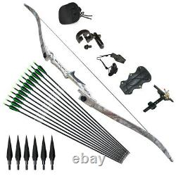 30-70LBS Recurve Bows Longbow Sets Hunting Target 57 Outdoor Practice Sport