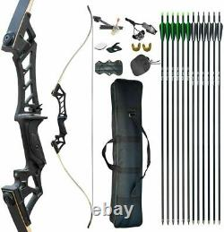 30-70LBS Right Handed Hunting Recurve Bow Kit Arrows Adult Outdoor Practice