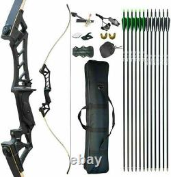 30-70lb Archery Hunting Takedown Recurve Bow and Arrow Set Adult Practice Target