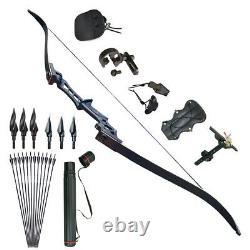 30-70lb Archery Takedown Recurve Bow Set Fiberglass Arrows Target Hunting Shoot