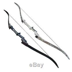 30-70lbs Takedown Archery Recurve Bow Longbow Set Target Outdoor Hunting