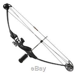 3040lbs Black Compound Bow Set Archery Hunting Hunting Outdoor Right Hand Bow