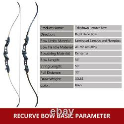 30LB Take Down Recurve with Arrow Set and Protector Gear for Archery Bow Hunting
