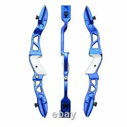 30LBS Blue Archery Takedown Recurve Bow Set Right Hand Hunting Shoot Target Bow