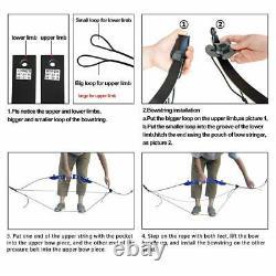 30lb 66 Recurve Bow Set Arrow Broadhead Quiver Right Hand Archery Hunting Sport