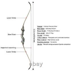 30lb Archery 60 Takedown Recurve Bow Set Right Hand Adult Beginner Hunting Kit