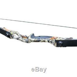 30lb Takedown Recurve Bow Sets 12x Fiberglass Arrows RH Camo Archery Hunting Kit