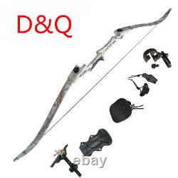 30lbs Archery Riser Recurve Limbs Bow Sets 57'' Takedown Hunting Target Outdoor