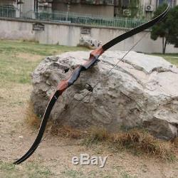 35-60lbs 58'' Archery Takedown Recurve Bow Laminated Limbs Longbow Hunting Bow