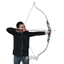 35-60lbs 64 Archery Takedown Recurve Bow American Longbow IBO 210FPS Hunting