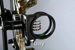 35-70lbs Archery Hunting Compound Right Hand Gray Camo Bow Kit, Target Practice