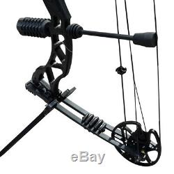 35-70lbs Compound Bow Hunting Right Hand Adjustable Outdoor Sports Black
