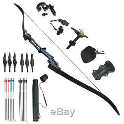 35LBS 57 Takedown Archery Recurve Bows Longbow Right Hand Outdoor Hunting