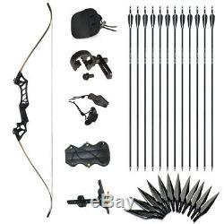 35lbs Archery Takedown Hunting Recurve Bow Right Hand 57 12 Aluminum Arrows