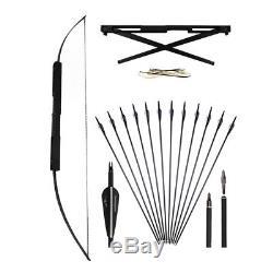 40/60lb 60 Archery Folding Bow Aluminum Alloy Right Hand + Carbon Arrow Hunting