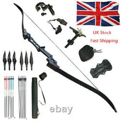 40LB Outdoor Bow Hunting Takedown Recurve Bow Archery Longbow Right Hand Set