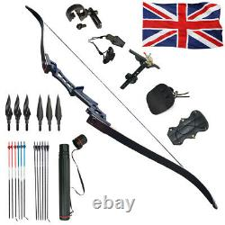 40LBS 57 Archery Recurve Bow Set Adult Outdoor Shooting Hunting Target Sports