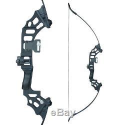 40lb 51 Archery Recurve Bow Kit 12x Arrows Broadheads Adult Right Hand Hunting