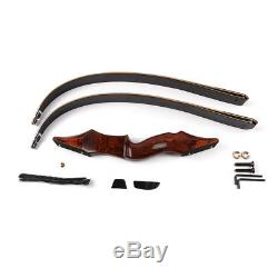 40lb Archery Takedown Recurve Bow 58 Hunting Wood Longbow Right Hand