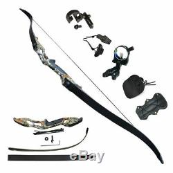 40lbs Archery Recurve Bows Sets Hunting Target Takedown 56 Beginner Practice