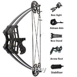 40lbs Compound Bow Kit Triangle Bow Right Left Hand Archery Hunting Fishing
