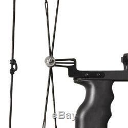 40lbs Mini Compound Bow Set 16 Right Left Hand Sight Archery Fishing Hunting