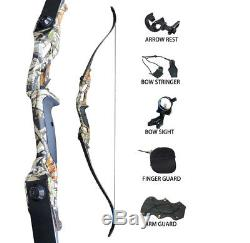 45LBS Archery Recurve Takedown Bows Hunting 56 Longbow Right Hand Camouflage