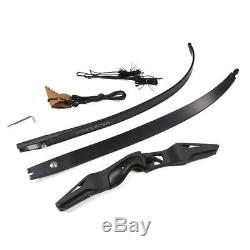 45lbs 60 Right Hand Takedown Bow Archery Arrow Rest Hunting Recurve Bow Longbow