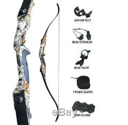 45lbs Archery Recurve Bows Sets for Adults Hunting Target Practice 56 Practice