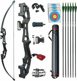 50 Archery Takedown Recurve Bow Hunting Bow Target Practice Longbow Right Hand